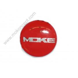 Monogramme pommeau Moke rouge