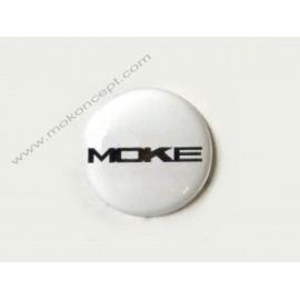 monogramme pommeau Moke blanc