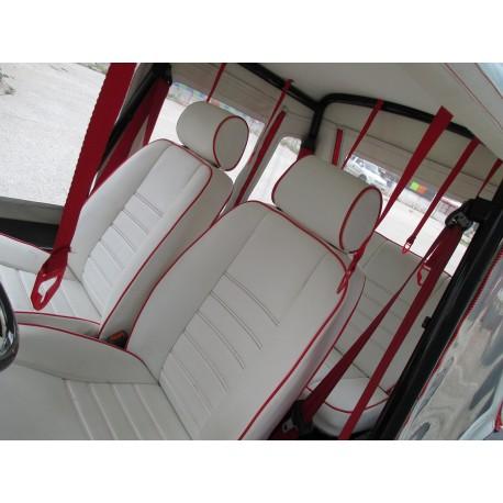 Set of seats + bench + hood + spare wheel cover Moke